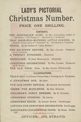 Advert for the Christmas edition of The Lady's Pictorial, periodical, reverse side